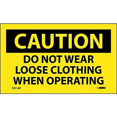 Caution, Do Not Wear Loose Clothing When Operating, 3