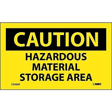 Caution, Hazardous Material Storage Area, 3