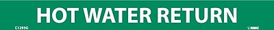 Pipemarker, Hot Water Return, 1X9, 1/2 Letter, Adhesive Vinyl