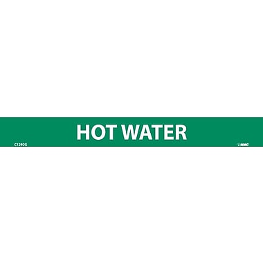 Pipemarker, Hot Water, 1X9, 1/2 Letter, Adhesive Vinyl