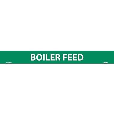 Pipemarker, Boiler Feed, 1X9, 1/2 Letter, Adhesive Vinyl