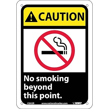 Caution, No Smoking Beyond This Point with Graphic, 10