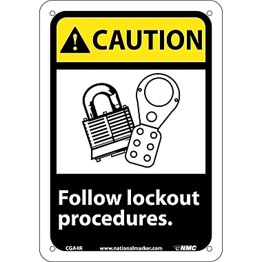 Caution, Follow Lock Out Procedures with Graphic, 10