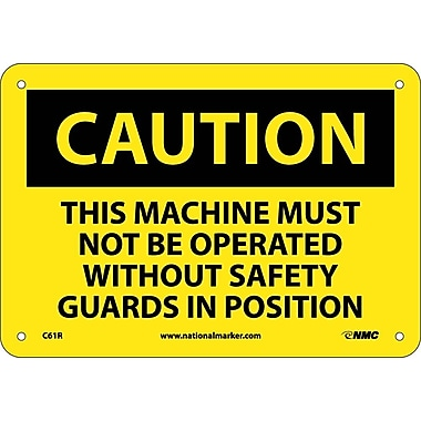 Caution, This Machine Must Not Be Operated With. . ., 7X10, Rigid Plastic