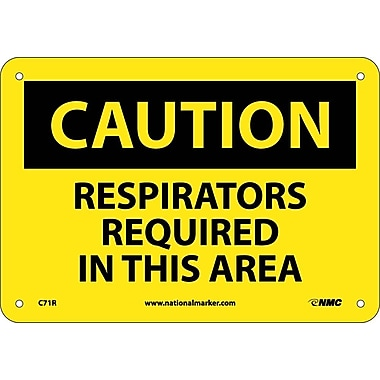 Caution, Respirators Required In This Area, 7