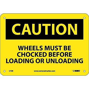 Caution, Wheels Must Be Chocked Before Loading Or..., 7