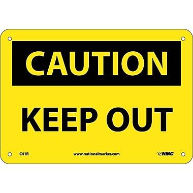 Caution, Keep Out, 7X10, Rigid Plastic