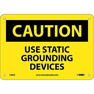 Caution, Use Static Grounding Devices, 7