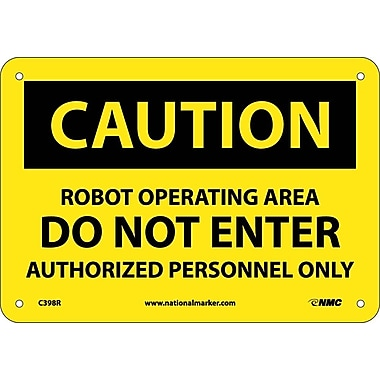 Caution, Robot Operating Area Do Not Enter, 7