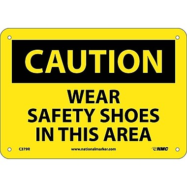 Caution, Wear Safety Shoes In This Area, 7