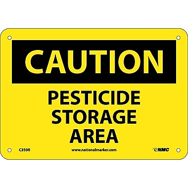 Caution, Pesticide Storage Area, 7