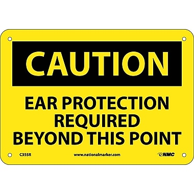 Caution, Caution Ear Protection Required Beyond, 7