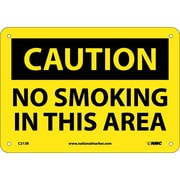 Caution, No Smoking In This Area, 7X10, Rigid Plastic