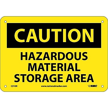 Caution, Hazardous Material Storage Area, 7