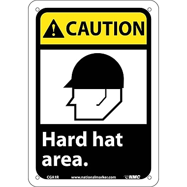 Caution, Hard Hat Area with Graphic, 10