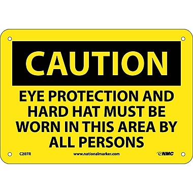 Caution, Eye Protection And Hard Hat Must Be Worn, 7