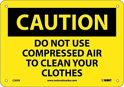 Caution, Do Not Use Compressed Air To Clean Your. . ., 7X10, Rigid Plastic