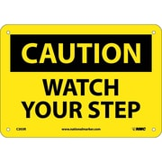 "Caution, Watch Your Step, 7"" x 10"", Rigid Plastic"