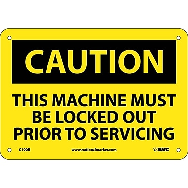 Caution, This Machine Must Be Locked Out Prior To Servicing, 7
