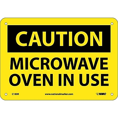 Caution, Microwave Oven In Use, 7
