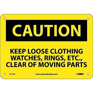 Caution, Keep Loose Clothing Watches Rings Etc..., 7