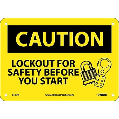 Caution, Lockout for Safety Before You Start, 7
