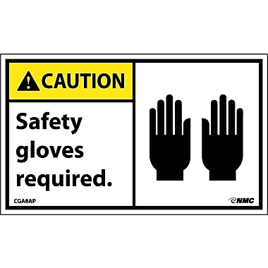 Caution, Safety Gloves Required Graphic, 3