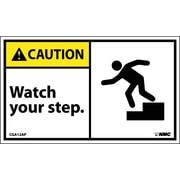 « Caution, Watch Your Step, image, 3 x 5 po, vinyle adhésif, 5/paquet