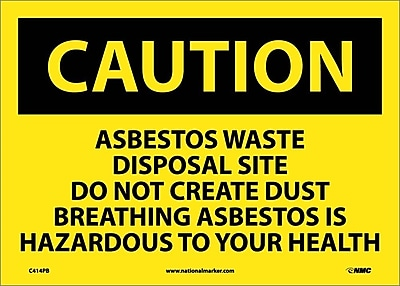 Caution, Asbestos Waste Disposal Site Do Not Create Dust Breathing Asbestos