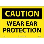 Caution, Wear Ear Protection, 10X14, Adhesive Vinyl