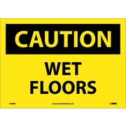 Caution, Wet Floors, 10X14, Adhesive Vinyl