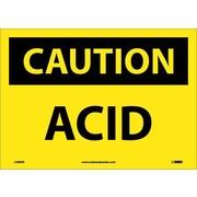 Caution, Acid, 10X14, Adhesive Vinyl