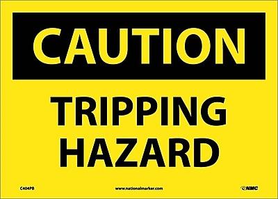 Caution, Tripping Hazard, 10X14, Adhesive Vinyl