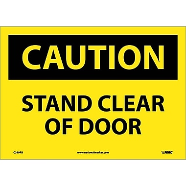 Caution, Stand Clear Of Door, 10X14, Adhesive Vinyl