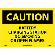 Caution, Battery Charging Station No Smoking. . ., 10X14, Adhesive Vinyl