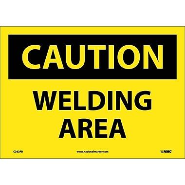 Caution, Welding Area, 10X14, Adhesive Vinyl