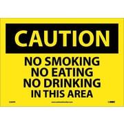 Caution, No Smoking No Eating No Drinking. . ., 10X14, Adhesive Vinyl