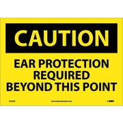Caution, Caution Ear Protection Required Beyond, 10X14, Adhesive Vinyl