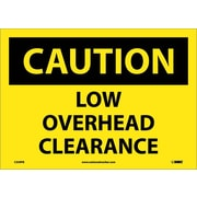Caution, Low Overhead Clearance, 10X14, Adhesive Vinyl