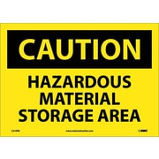 Caution, Hazardous Material Storage Area, 10X14, Adhesive Vinyl