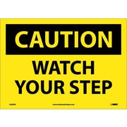 Caution, Watch Your Step, 10X14, Adhesive Vinyl