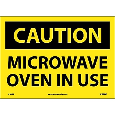 Caution, Microwave Oven In Use, 10