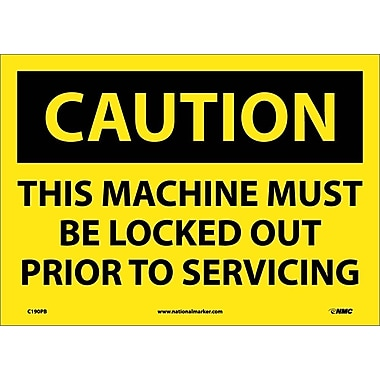 Caution, This Machine Must Be Locked Out Prior To Servicing, 10