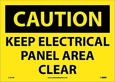 Caution, Keep Electrical Panel Area Clear, 14X10, Adhesive Vinyl