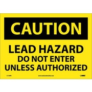 Caution, Lead Hazard Do Not Enter Unless Authorized, 10X14, Adhesive Vinyl