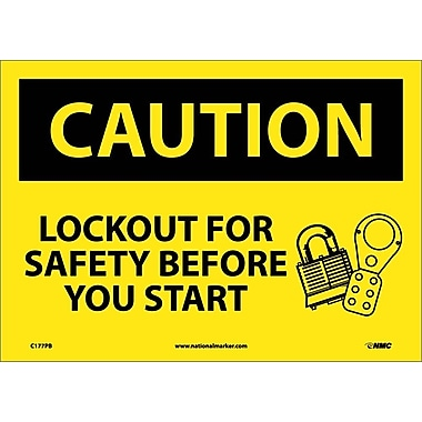 Caution, Lockout for Safety Before You Start, 10