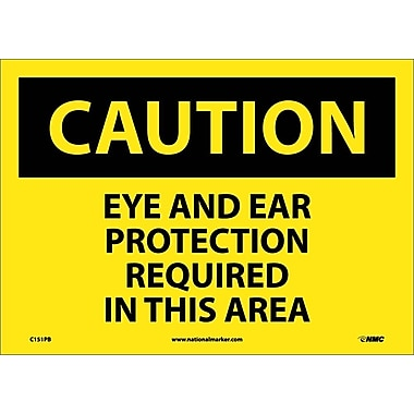 Caution, Eye And Ear Protection Required In This Area, 10