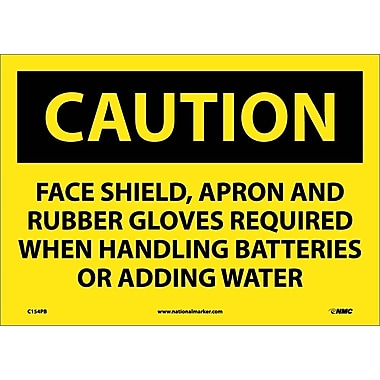 Caution, Face Shield Apron And Rubber Gloves Required, 10