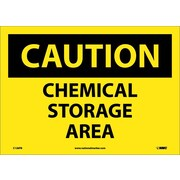 Caution, Chemical Storage Area, 10X14, Adhesive Vinyl