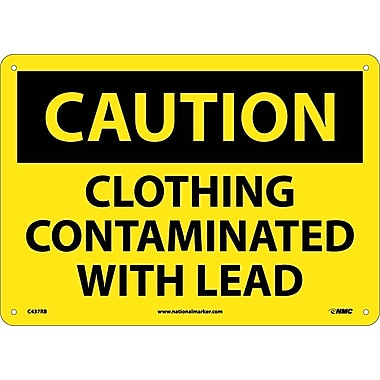 Caution, Clothing Contaminated with Lead, 10